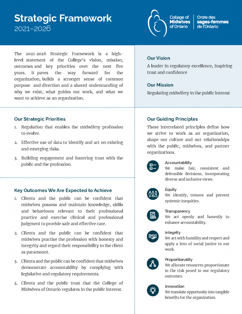 an image of the strategic framework. all text in image is duplicated in the text on the this page below the image.